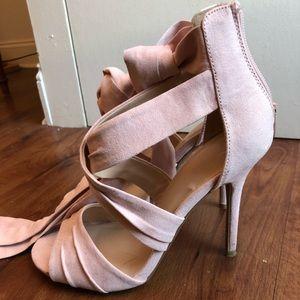 Blush Charlotte Russe Sandal AnkleWrap Size 8 Heel